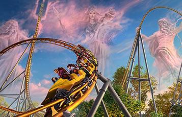 Pantheon roller coaster opening Spring 2020 at Busch Gardens Williamsburg